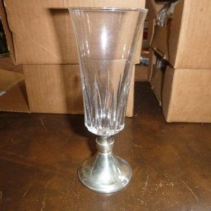 Crystallerie D'Arques France Sterling by Duchin Dining - 8 Vintage Crystal & Sterling Whiskey Sour Glasses